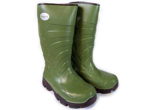 Bota de goma agua SEGURA® Verde 2925 Forro interior de NEOPRENO Tallas de 41 a 46