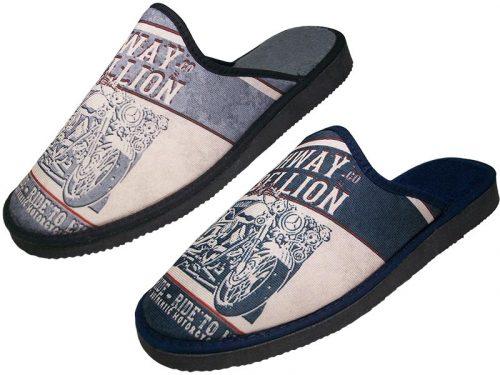 Zapatillas de casa de caballero La Barca Gris, Marino 505